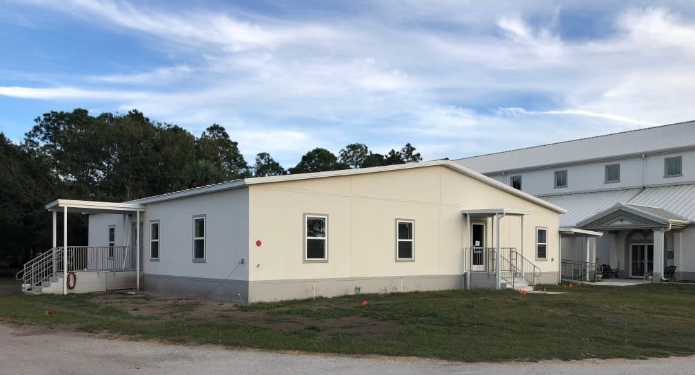 St. John the Divine Episcopal Church in Sun Center Center, Florida. The project was designed to be an ancillary support building to the main facility for meetings,